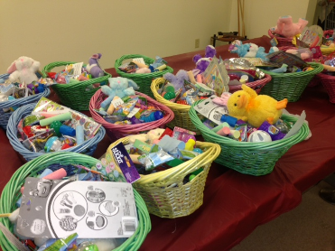 Easter baskets donated to the Food Bank 2014