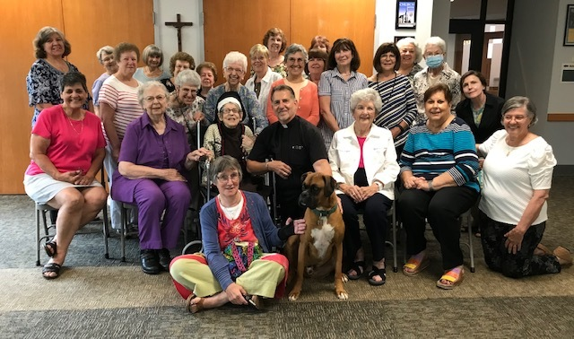 Ladies Guild gathering following the Memorial Mass for Sr. Ida, July, 2021