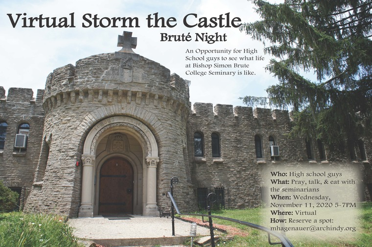 On Wednesday, November 11, 2020 we are hosting a Virtual Storm the Castle Brute Night from 5PM - 7PM. Please email mhagenauer@arhcindy.org to reserve your spot.