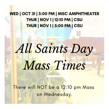 All Saints Day Mass on Campus