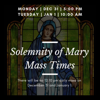 Solemnity of Mary Mass