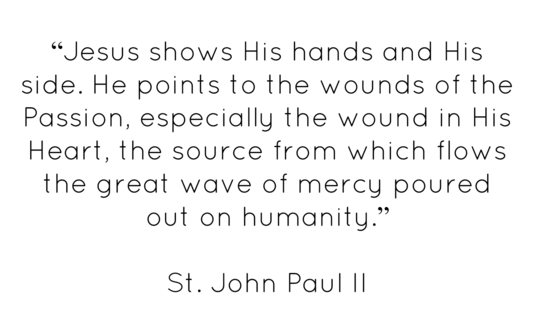 Divine Mercy quotation John Paul II