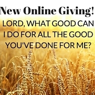 New online giving!