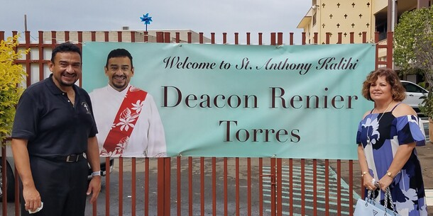 Welcome Deacon Renier and Roxanne Torres