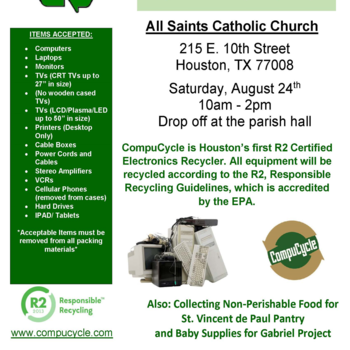 Electronic Recycling Drive at All Saints