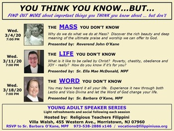 Young Adult Lecture Series: You think you know . . . but . . .