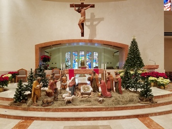 December 25, Christmas Mass will be celebrated at 10 AM.