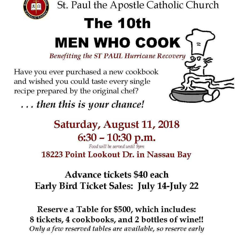 Men Who Cook Flyer