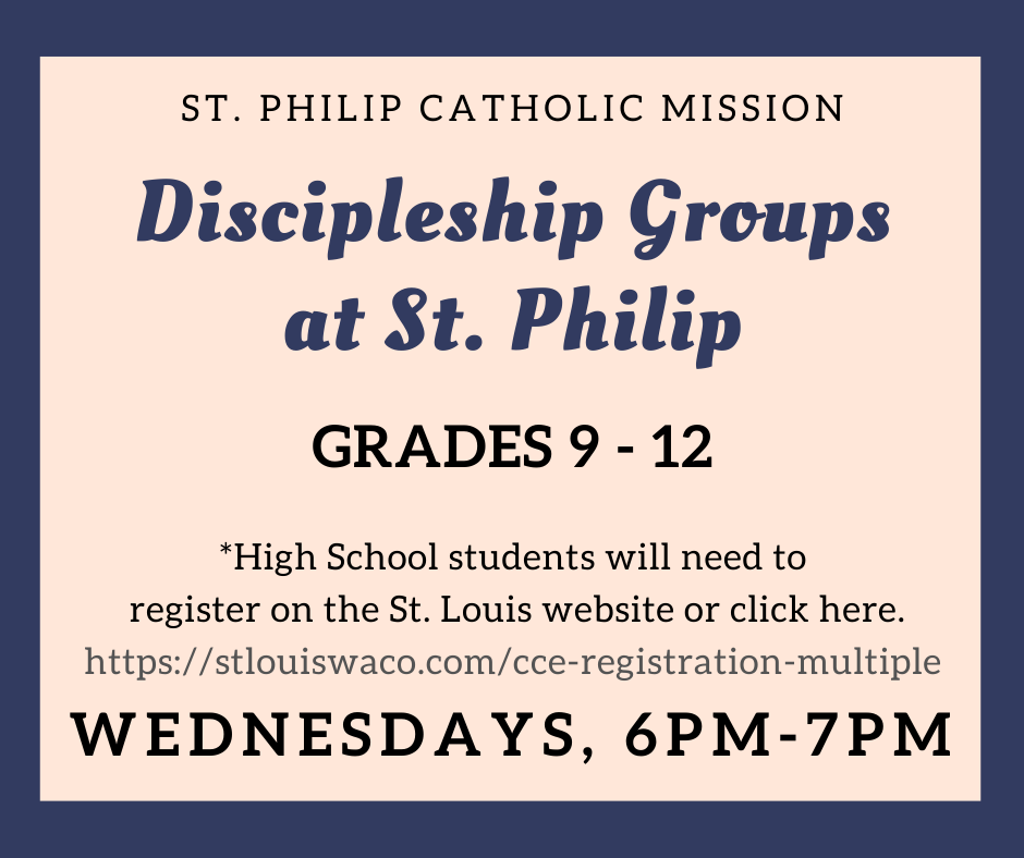 Click below to register for 9-12th at St. Philip