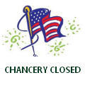 Chancery Closed on Memorial Day
