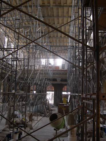 During Cathedral Restoration