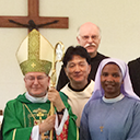 Bishop makes pastoral visit to St. Paul's Abbey