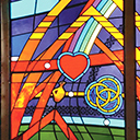 Stained glass windows in Clifton church tell story of patron, parish