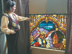 Stained glass studio shares story of faith by restoring century old windows