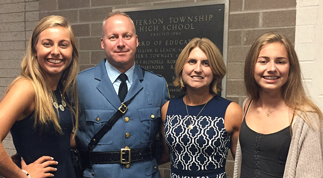 FAMILY PORTRAIT Eric Wilsusen, Deputy Chief of Police in Jefferson  Township, with his wife, Kristine, and two daughters, Karly and Katelyn. 71d6f1f74ada