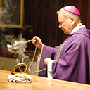 Bishop Blesses New Chapel at St. Clare Church