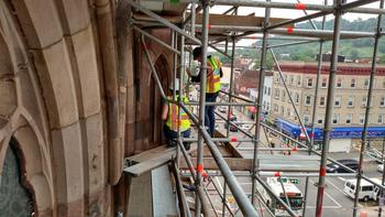July 2015 Weather Cooperates As Cathedral Exterior Work Continues