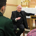 Pizza with the Bishop