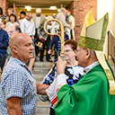 Haskell parish welcomes the Bishop