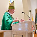 Bishop blesses new pulpit