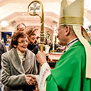 Bishop visits Holy Family Parish