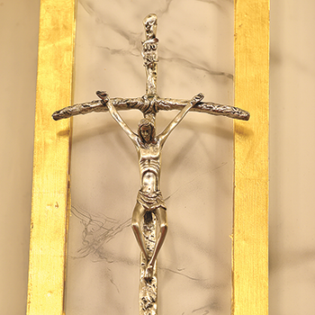 Shrine receives replica of crosier