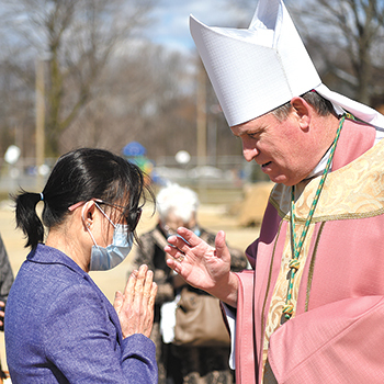 Bishop blesses new rectory