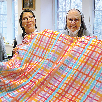 Blankets for grieving families