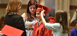 Graduation ceremony for Catholic home school students held in cathedral