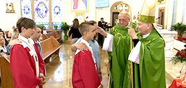 Confirmation day at the Shrine of St. Pope John Paul II/Holy Rosary Parish in Passaic