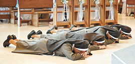 Four Franciscan sisters profess perpetual vows before Bishop