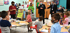 Bishop visits Immaculate Heart of Mary School in Wayne