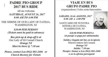 Padre Pio Group 2017 Bus Ride-8/26/17
