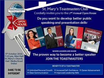 St Mary's Toastmasters Club - Open House