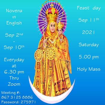 Our Lady of Vailankanni Mother of Good Health - Novena Day 1 (Zoom)