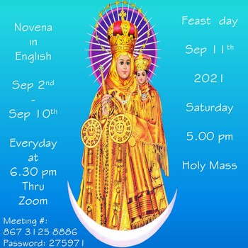 Our Lady of Vailankanni Mother of Good Health - Novena Day 2 (Zoom)