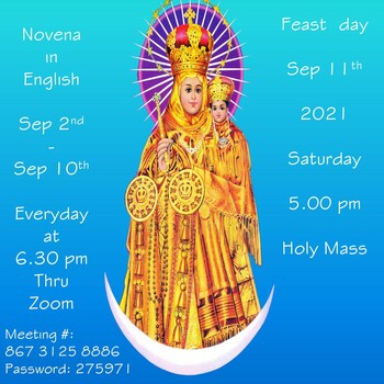 Our Lady of Vailankanni Mother of Good Health - Novena Day 4 (Zoom)