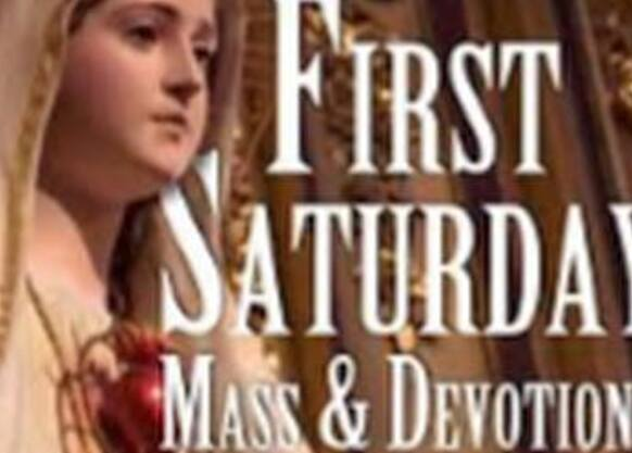 July to December--1st Saturday Mass 9:15am followed by Confessions