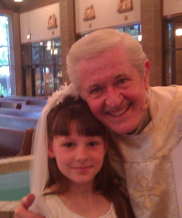 Fr. Mike with Grace Marchand