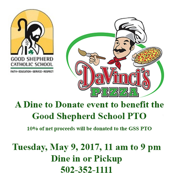 Dine Out to Donate at Davinci's Pizza