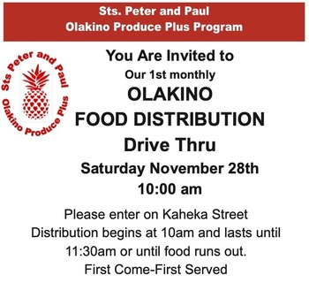 Sts. Peter & Paul Olakino Produce Plus Program