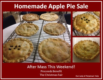 Homemade Apple Pie Sale