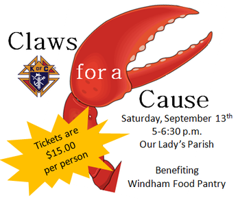 Claws for a Cause - Saturday 9/13 - 5:00-6:30p.m.