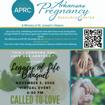 Arkansas Pregnancy Resource Center Legacy of Life Banquet