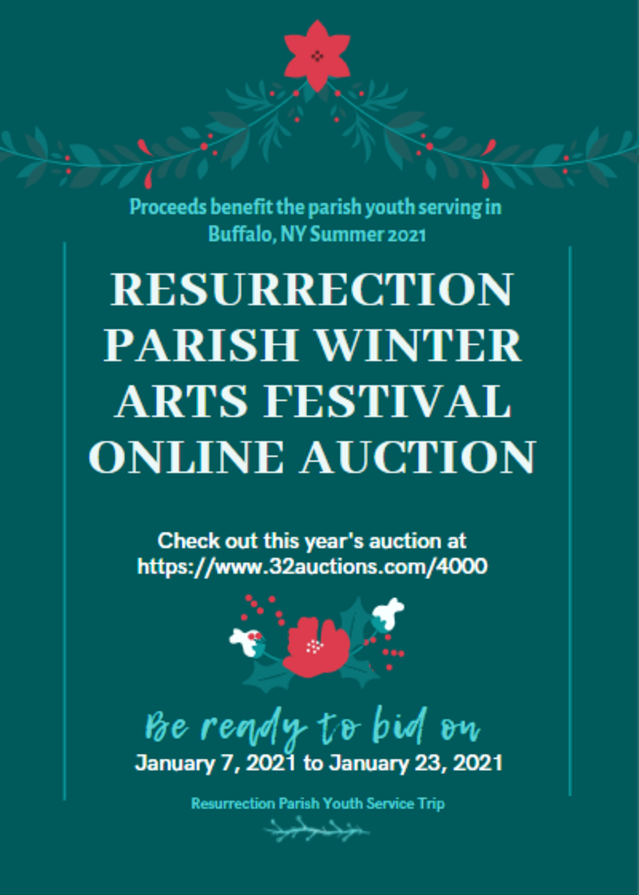 Winter Arts Festival Auction Flyer