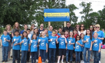 Sacred Heart Fourth Graders Raise Money for Alex's Lemonade Stand Foundation