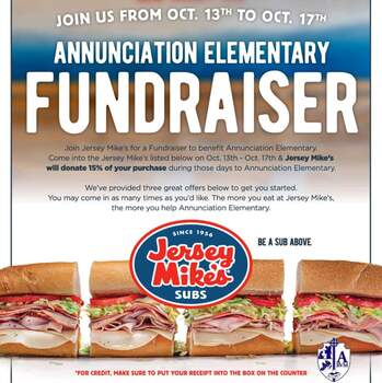 H&S Dine out Jersey Mike's 10/13 - 10/17
