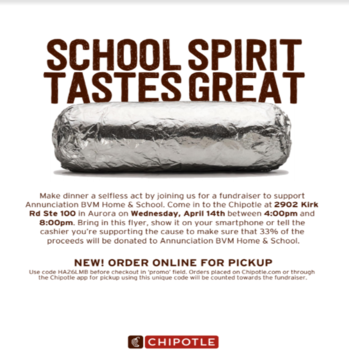 Chipotle H&S Dine Out Fundraiser