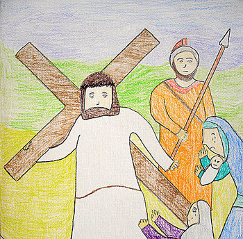 Teachers and Catechists Participate in Praying the Stations of the Cross With Your Children