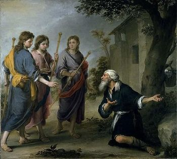 Abraham and the three visitors in today's first reading is a vivid example of desert hospitality.